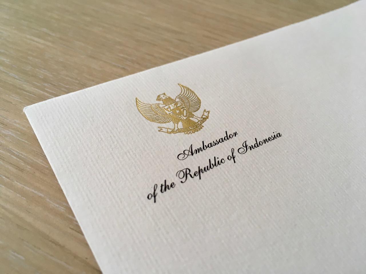 Koverta sa zlatotiskom na rebrastom papiru - Beoprint štamparija Beograd