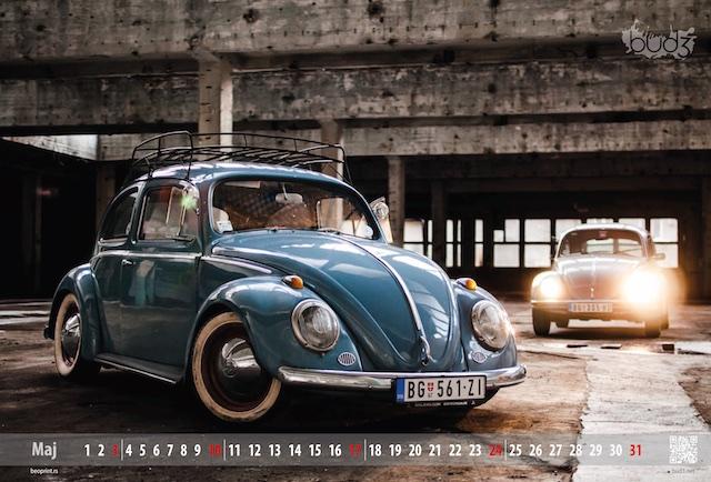 kalendar vw buba, digitalna štampa - Beoprint štamparija Beograd