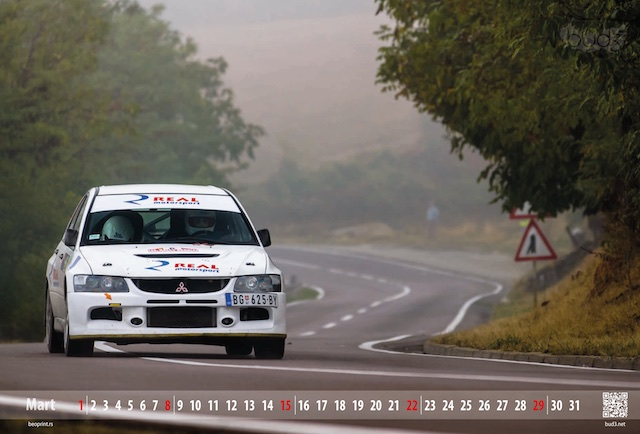 kalendar rally divčibare, digitalna štampa - Beoprint štamparija Beograd
